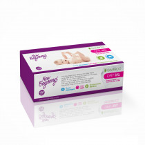 New Beginnings Bamboo Dry Wipes Soft Pack 100 Pcs