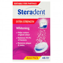 Steradent Denture Cleaning Tablets Extra Strength Whitening 48 Tablets