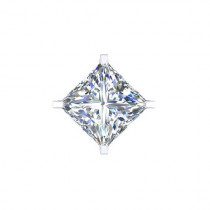 B-Jewel SS Cubic Zerconia Earrings Square Small