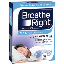 Breathe Right Clear Nasal Strips Large 10 pack