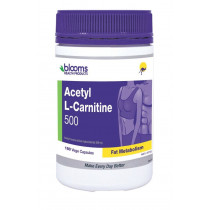Henry Blooms Acetyl L-Carnitine 500mg 180 Vege Capsules