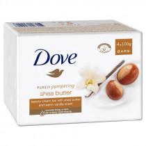 Dove Shea Butter Beauty Cream Bar 100g 4 Pack
