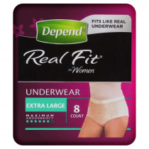 Depend Realfit Underwear For Women Extra Large 8 Pack