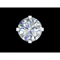 B-Jewel SS Cubic Zerconia Earrings Round Large
