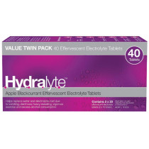 Hydralyte Effervescent Electrolyte Blackcurrant & Apple 40 Tablets