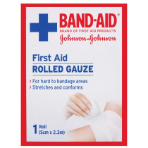 Band-Aid First Aid Rolled Gauze 2.3m