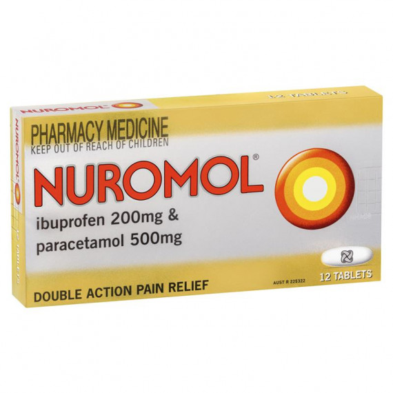 Nuromol Double Action Pain Relief 12 Tablets