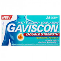 Gaviscon Double Strength Peppermint Tablets 24 Pack