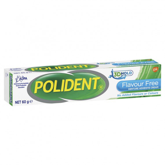 Polident Adhesive Flavour Free 60g