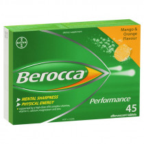 Berocca Performance Mango & Orange 45 Effervescent Tablets