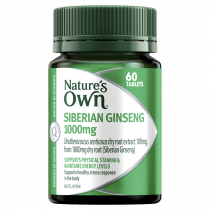 Natures Own Siberian Ginseng 1000mg 60 Tablets