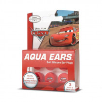 Aqua Ears Soft Silicone Kids Ear Plugs Pixar Cars 3 Pk