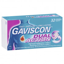 Gaviscon Dual Action 32 Chewable Peppermint Tablets