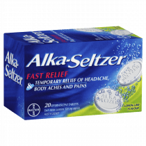 Alka-Seltzer Effervescent Tablets Lemon Lime 20 Tablets