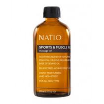 Natio Sports & Muscle Recovery Massage Oil 200ml