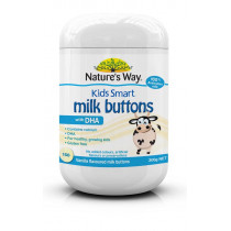 Natures Way Kids Smart Milk Buttons with DHA Vanilla 300g 150s