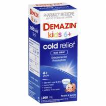 Demazin Kids 6+ Cold Relief Blue Syrup 200ml