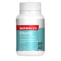 Nutra Life Bilberry 10000 Plus 60 Tablets