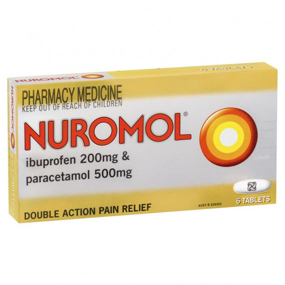Nuromol Double Action Pain Relief 6 Tablets