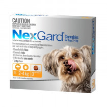 Nexgard Chewables for Very Small Dogs 2 - 4kg Orange 6 Pack