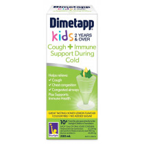 Dimetapp Kids Cough + Immune Support During Cold 200ml