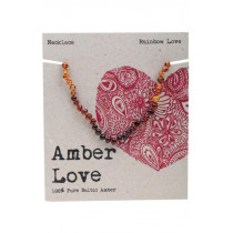 Amber Love Baltic Amber Childrens Necklace Rainbow Love 33cm
