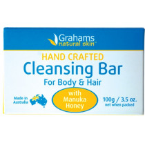 Grahams Natural Cleansing Bar with Manuka Honey 100g