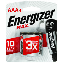 Energizer Max Battery AAA Batteries 4 Pack