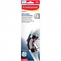 Elastoplast Sport Adjustable Knee Stabiliser Brace Black