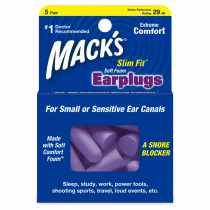 Macks Slim Fit Soft Foam Ear Plugs 5 Pair