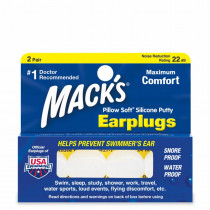 Macks Pillow Soft Silicone Putty Ear Plugs 2 Pair