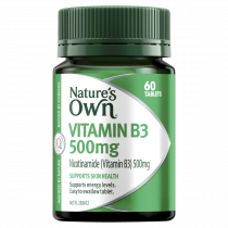 Natures Own Vitamin B3 500mg 60 Tablets