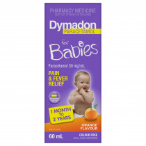 Dymadon for Babies 1 Month to 2 Years Colour Free Orange 60ml
