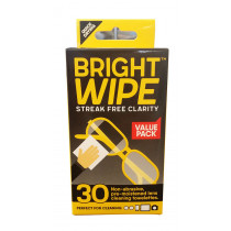 Bright Wipe Streak Clarity Cleaning Towelettes 30 Packs