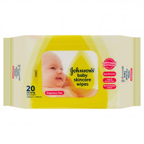 Johnsons Baby Skincare Wipes Fragrance Free 20 Pack
