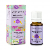 Lively Living Essential Oil Blend Certified Organic Relaxation 10ml