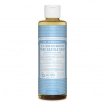 Dr. Bronners Pure-Castile Baby Liquid Soap Unscented 236ml