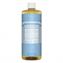Dr. Bronners Pure-Castile Baby Liquid Soap Unscented 946ml