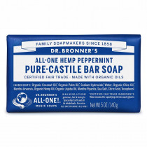 Dr. Bronners Pure-Castile Bar Soap Peppermint 140g