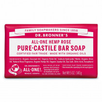 Dr. Bronners Pure-Castile Bar Soap Rose 140g