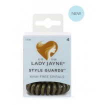 Lady Jayne Style Guards Kink Free Spirals Green 4 Pack