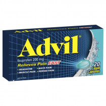 Advil Liquid Capsules 20 Capsules