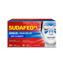 Sudafed PE Sinus Day & Night Relief 48 Tablets