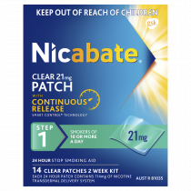 Nicabate Patches Clear 21mg 14 Days