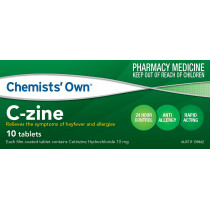 Chemists Own C-Zine 10mg 10 Tablets