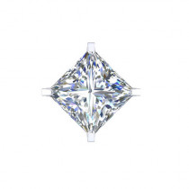 B-Jewel SS Cubic Zerconia Earrings Square Large