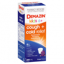Demazin Kids 6+ Cough and Cold Relief Syrup 200ml