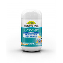Natures Way Kids Smart Complete Multivitamin + High DHA Fish Oil 50 Capsules