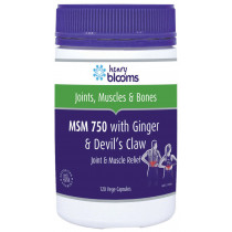 Henry Blooms MSM 750 with Ginger & Devil's Claw 120 Capsules