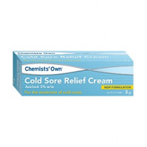 Chemists Own Cold Sore Relief Cream 5g